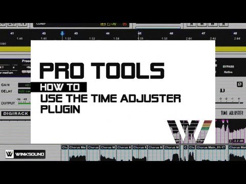 Pro Tools: Create Doubles Using the Time Adjuster Plugin | WinkSound