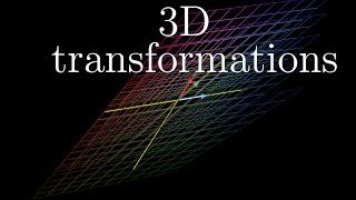 Three-dimensional linear transformations | Essence of linear algebra, chapter 5