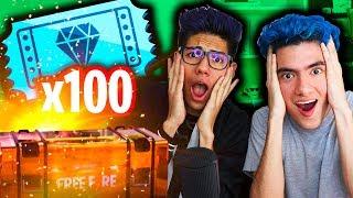 ¡100 TIROS GRATIS! ¿GANAREMOS? - FREE FIRE - TheDonato y Antrax