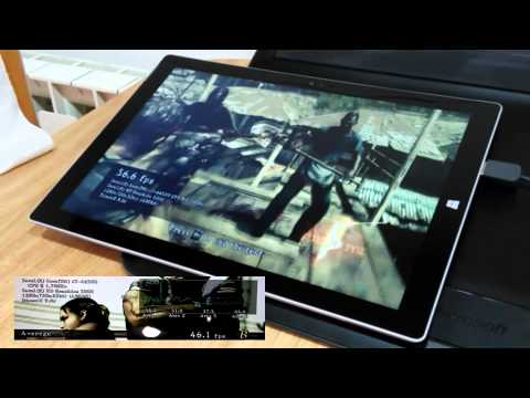 Surface Pro 3 i7 Gaming with external fan on intel hd 5000 intel core i7 4650 U
