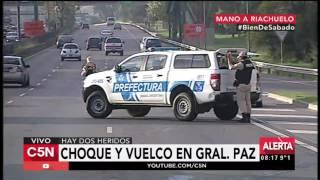 C5N - Tránsito: Choque y vuelco en General Paz