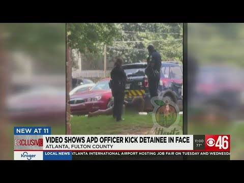 Atlanta cop filmed kicking handcuffed woman in head | Boing Boing
