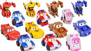 Touch & Crash Deformation CarRobot Disney Car3 Mcqueen Mater RobocaPoli Transformation