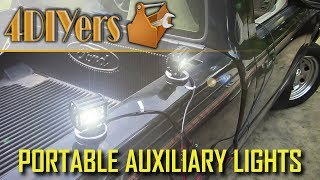 Lights link: http://www.oedro.com/brave-man-t1-series-4-inch-27w-flood-beam-led-light-barVideo tutorial on how to make portable auxiliary lights for your vehicle. For this I am using two flood lights from Oedro, 4 inch 27 watt led light from their Brave Man T1 series. These particular portable auxiliary lights can be mounted anywhere on your vehicle, trailer, recreational vehicle, and possibly boat, however these use a magnetic base so they can only be stuck to steel components. These lights are perfect for working on your vehicle, camping, farming, going out on the trails, loading a vehicle, etc. They use a 12v power supply from your vehicle, receiving power from a cigarette light socket, but you can always install battery post clamps instead depending on your preference. Website: http://4diyers.comPatreon: https://www.patreon.com/4diyersFacebook: https://www.facebook.com/4diyersGoogle Plus: https://plus.google.com/+4DIYersTwitter: https://twitter.com/4DIYersInstagram: https://www.instagram.com/4diyers/Tumblr: http://4diyers.tumblr.comPintrest: https://www.pinterest.com/4diyers/Tools/Supplies Needed:-wiring-adhesive filled heat shrink-regular heat shrink-soldering iron-solder-relay-switch-lights-weatherproof connectors-wire cutters/strippers-cigarette lighter plugProcedure:-depending if you are using 1 or 2 lights will affect how you want to wire up these lights-for these lights I am using weatherproof connectors so this can be used in the rain with no issues-cut the wires to length if need be and strip the casing-install the seal for the weatherproof connectors-install the terminals and pinch them in place by hand-using the terminal crimpers for the connection-once done, install the connector casing and retaining clip-cut the wires which will be for the y'd harness, we have two lights, these will need to go into one-for wiring size, a gage chart will be needed which will be dependant on the light draw and distance the wiring will be ran-one side of this pair will 