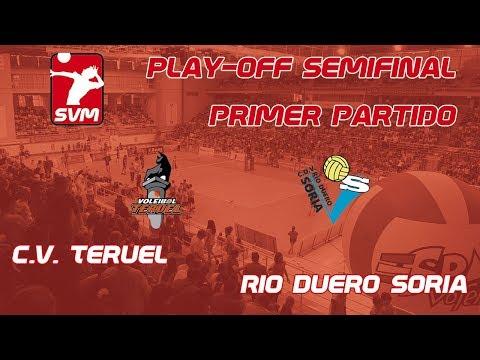 Directo del CV Teruel- Río Duero. Comienzan los playoffs