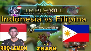 Download Video LUAR BIASA !! ZHASK RRQ LEMON Bawa Indonesia Menang 17-0 Atas Filipina Di Arena Kontes Mobile Legend MP3 3GP MP4