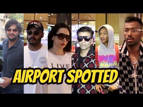 Ali Fazal, Arjun, Karishma Kapooor, Karan Johar, Hardik Pandya, Joden Smith Spotted At Airpot