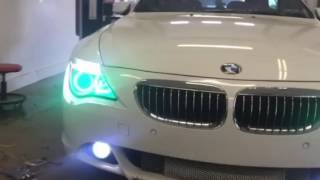 650 BMW custom Halos and switch back drls