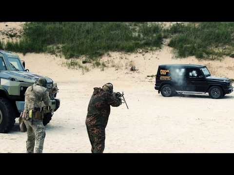 VR8 Shooting test: Armored vehicle RIDA based on Mercedes G-class
