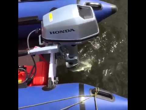 обкатка лодочных моторов honda