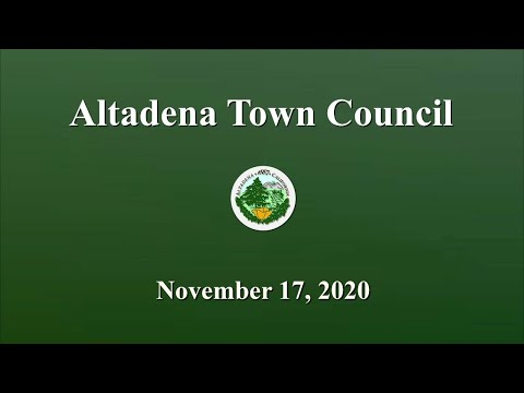 Altadena Town Council Meeting: November 17, 2020