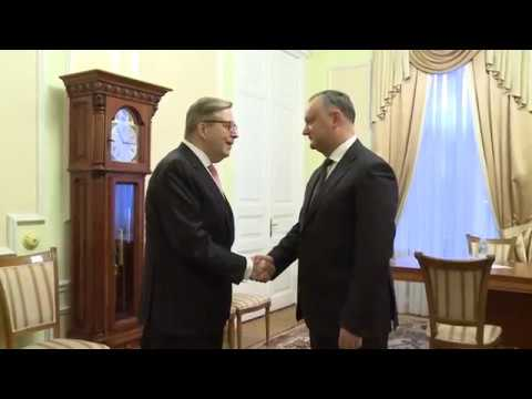 Moldovan president meets head of European Union delegation in RM