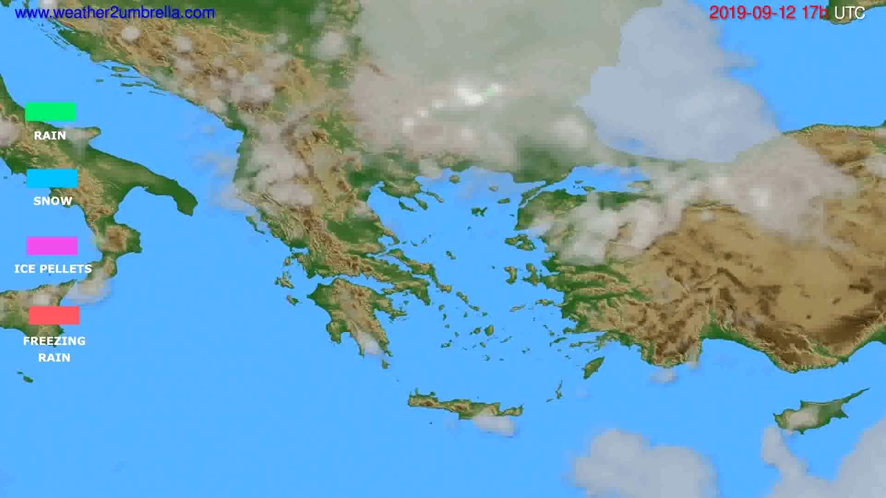 Precipitation forecast Greece // modelrun: 00h UTC 2019-09-11