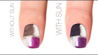 Color Block Nail Design - Del Sol Color Change