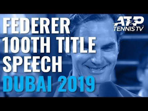 Roger Federer's Speech & Trophy Lift After Winning 100th Title   Dubai 2019 - Thời lượng: 6 phút, 28 giây.