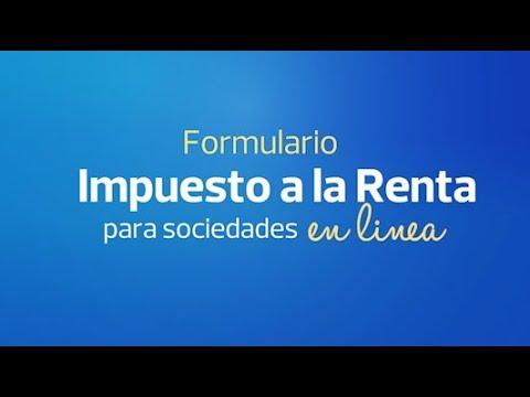 Ver el video Formulario Impuesto a la Renta