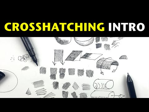 Pen and Ink Crosshatching | A simple introduction