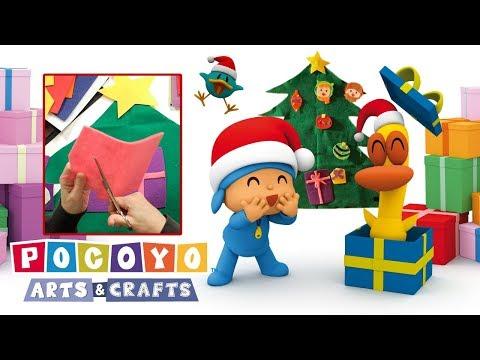 WEIHNACHTEN  Pocoyo Arts & Crafts:  Weihnachtsbaum