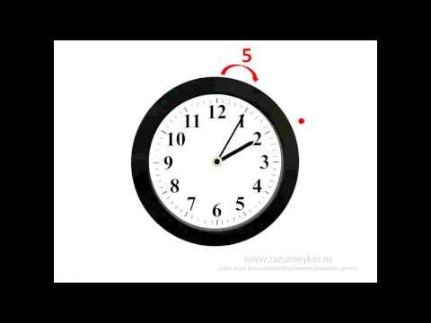Изучаем время по часам со стрелками. Часы. Часть 1