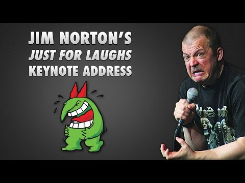 just - SiriusXM Talk a.k.a. The Opie & Anthony Channel aired Jim Norton's Keynote address at the Just For Laughs comedy festival in Montreal this morning; the audio is much better than the audience...