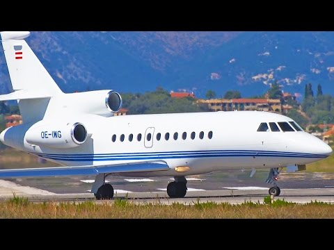 Plane Spotting at Corfu Airport – Part 5 – Executive Aircraft Arrivals and Departures [1080p HD]