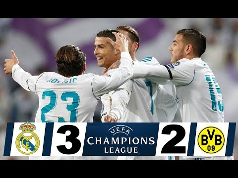 Real Madrid vs Borussia Dortmund 3 2   UCL RESUMEN COMPLETO 6 12 2017