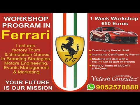 Ferrari Manufacturing Factory Tour Italy - Internship At Ferrai  Videsh Consultz