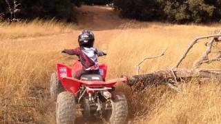 9. Bradley is a natural at this on his 2014 Honda TRX90