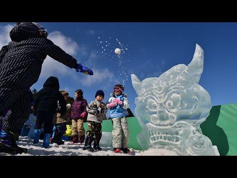 六甲山に鬼の氷像