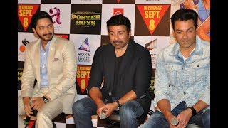 UNCUT- Sunny Deol, Bobby Deol, and Shreyas Talpade at Poster Boys Trailer Launch.LIKE and SHARE this video with your friends if you like it :)SUBSCRIBE To SpotboyE : Click Here ►https://goo.gl/Nf7gKiCheck out our cool website for a lot more updates: http://www.spotboye.comFollow us on Twitter at https://twitter.com/SpotboyeLike us on Facebook at https://www.facebook.com/Spotboye