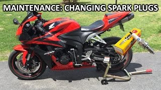 4. How to change spark plugs on 2008 CBR600RR