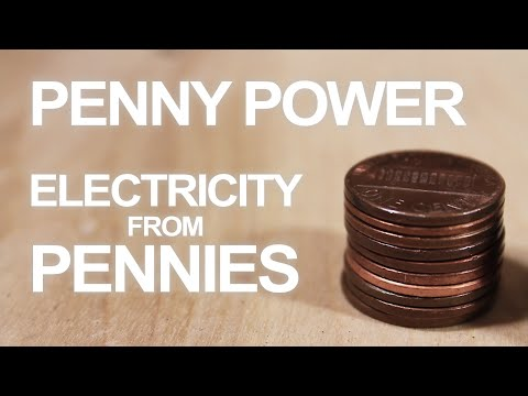 Battery - Is there energy hidden inside your pocket change? Convert pennies into make-shift batteries that can drive small current devices like LED's and calculators. ...