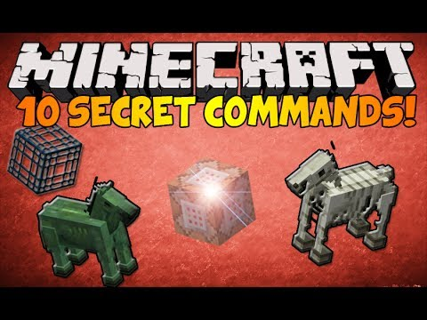 Minecraft – (1.8.1) 10 Secret Commands in ONE VIDEO!