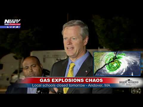GAS EXPLOSIONS CHAOS: Latest from Andover, Massachusetts (FNN)
