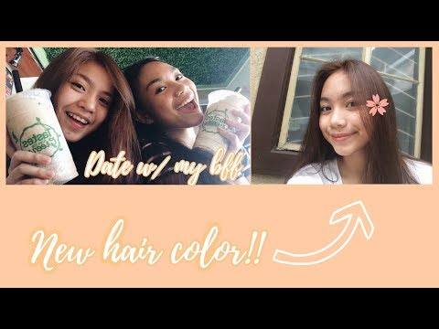 VLOG 8: NEW HAIR COLOR + DATE W/ MY BFF (PHILIPPINES)  Bianca Rivera