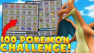 Minecraft 100VS100 MEGA PIXELMON MINIGAME CHALLENGE - Pokemon Modded Battle Minigame