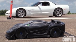 Twin Turbo Corvette vs RC Car by High Tech Corvette