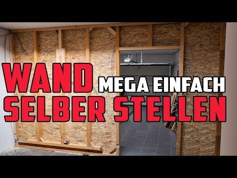 Wand selber bauen 🔥 Ständerwerk aus Holz mit OSB verkleiden