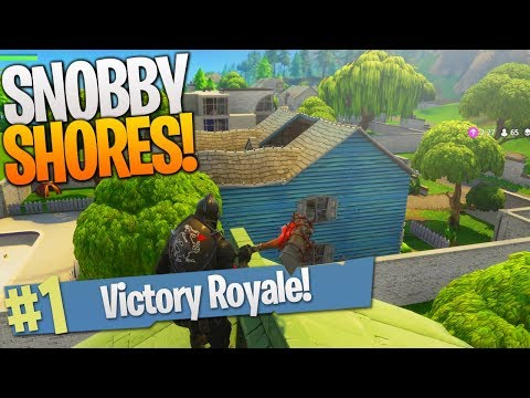 SNOBBY SHORES VICTORY ROYALE Duos w/ Ali-A! - Fortnite NEW MAP UPDATE! (видео)