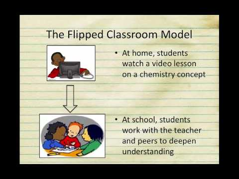 Teachers explaining the flipped classroom with YouTube