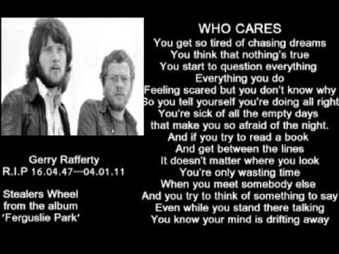 Tekst piosenki Gerry Rafferty - Who Cares? po polsku