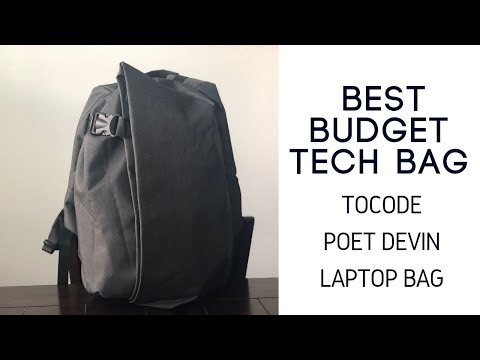 Best Budget Tech Bags: Tocode Poet Devin Anti-Theft Laptop Backpack Review
