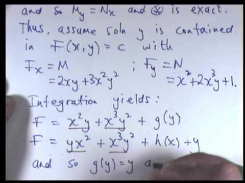 Exakte Differentialgleichungen