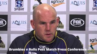 Brumbies v Bulls Post Match Press Conference | Super Rugby Video Highlights