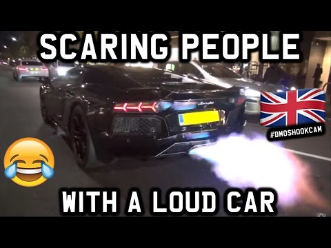 SCARING PEOPLE WITH A LOUD CAR IN LONDON!!! DMO SHOOK CAM PART 6 #DMOSHOOKCAM