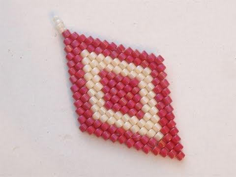 Tutorial perline Brick Stitch: come fare rombi con la tecnica Brick Stitch 1/2 | Tutorial Perline
