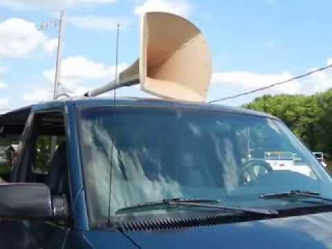 This guy makes air horns out of PVC as a hobby. This is his homemade ship horn.