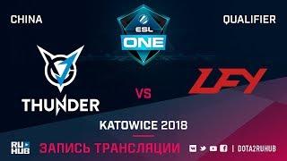 VGJ Thunder vs LFY, ESL One Katowice CN, game 2 [Lex, 4ce]