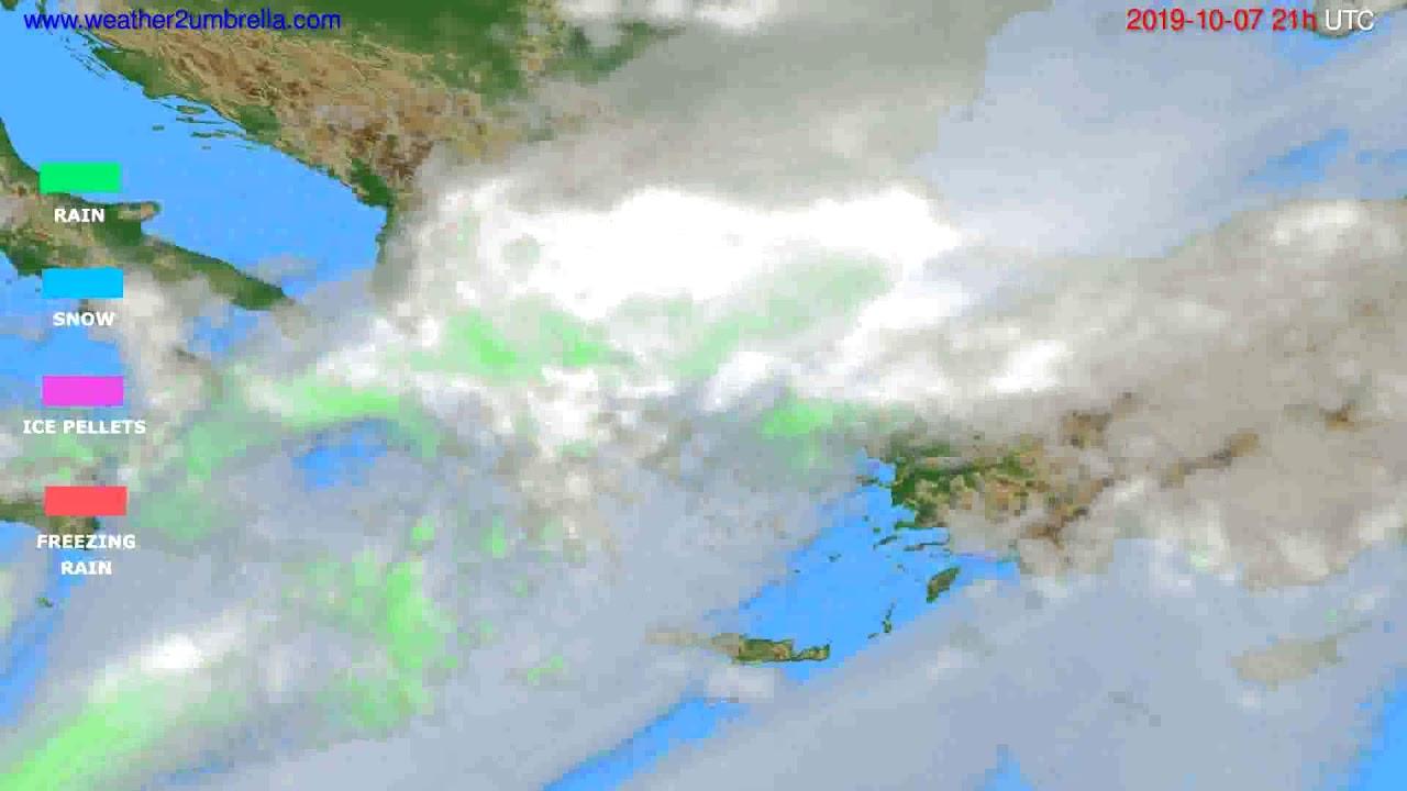 Precipitation forecast Greece // modelrun: 00h UTC 2019-10-06