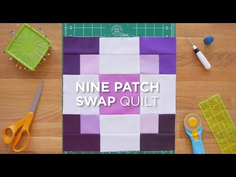 patchwork - blocco nine-patch swap
